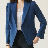 Buy cheap Loose Fit Casual White Blazer Double - Breasted For Office Ladies Fashion from wholesalers