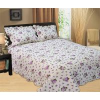 Buy cheap Purple Flowers Full Size Bed Sets Soft Comfortable With 100% Polyester Material from wholesalers