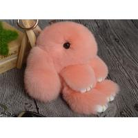 China Rabbit Fur Round Fuzzy Ball Keyring , Cute Fluffy KeychainFor Bag Pendant on sale