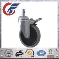 Buy cheap 5 inch swivel stem caster wheel with total lock for hopital bed from china supplier from wholesalers