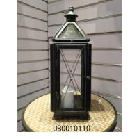 Buy cheap Vintage Candle Lantern Antique Black Distressed Lantern Candle Holder Wall Hanging Display Candle Lantern from wholesalers