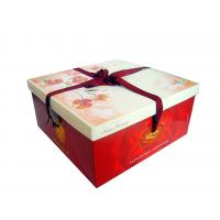 China Varnishing CMYK Luxury Jewelry Necklace Box / Gift Packaging Boxes with bowknot on sale