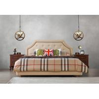 Buy cheap American style Good quality Gery Fabric Upholstered Headboard Queen Bed Leisure from wholesalers