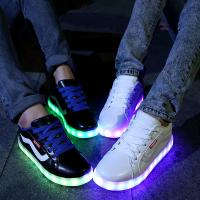 Buy cheap hot sale fashion adults led lighting shoes casual for male female, good quality big size led shoe men led flash shoes from wholesalers