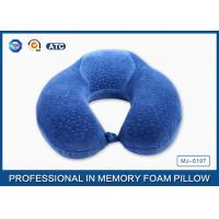 Buy cheap High Density Memory Foam Travel Neck Pillow With Hood Cover , Travelling Pillow from wholesalers