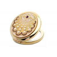 Buy cheap Zinc Alloy Customize Pocket Make Up Mirror Laser Jeweled For Cosmetics from wholesalers