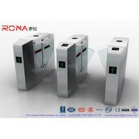 Buy cheap Outdoor / Indoor Flap Barrier Gate Entrance Turnstiles Removable HID 13.56mhz RFID Reader product