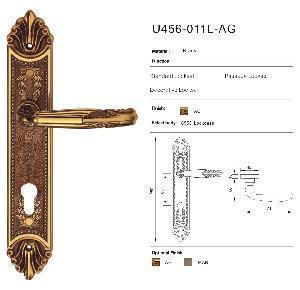Buy cheap Luxury Brass Door Handles Locking Latch (U456-011L-AG) product