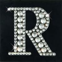 Buy cheap Letter R crystal alphabet Rhinestone letters stickers for Shoes/Crafts from wholesalers