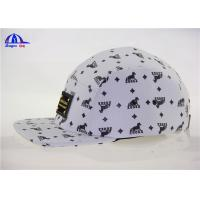 Buy cheap OEM Cool Allover Printed 5 Panel Camp Cap / Snapback Caps with Metal Logo from wholesalers