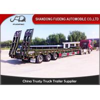 Buy cheap 75 ton Low boy semi-trailer low bed semi truck trailer with widen device extender from wholesalers