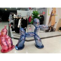 customize size  hotel mall decoration dog statue with metal color as decoration statue in shop/ mall /event