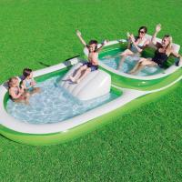 Buy cheap Two - In - One Wide Family Inflatable Swimming Pool With Cup Holders Easy Set Up from wholesalers