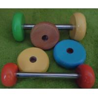 China Wood wheel colored wood toy wheels toy parts on sale