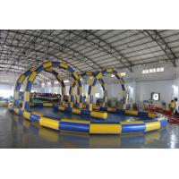 Buy cheap Big Sealing Material Long Inflatable Race Track For Outdoor Karting Games Interesting inflatable sport games from wholesalers