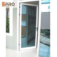 Buy cheap Swing Open Style Aluminium Hinged Doors With Ford Blue Reflective Glass wooden hinged door pivot hinges glass door from wholesalers