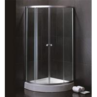 Buy cheap 800 X 800 Quadrant Shower Enclosures And Tray With Magnetic Stripes Ss Sliding Handle from wholesalers
