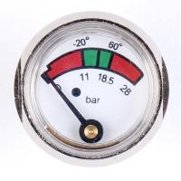 Buy cheap 1 Inch 25mm Diaphragm Pressure Gauge Fire Extinguisher With Chrome Plated product