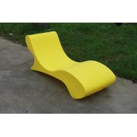 China Custom Glow Outdoor Pool Furniture , Lightweight Chaise Pool Chairs on sale
