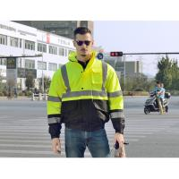 Buy cheap 100 % polyester 300D oxford hi vis safety jacket winter waterproof reflective product