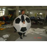 FR rip stop nylon Adult Inflatable Soccer Advertising Costumes For Promotion