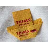 Buy cheap Center / Mitre Fold Taffeta Woven Labels , Elegant Embroidered Sewing Labels from wholesalers