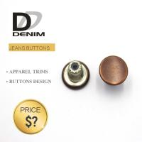 Buy cheap Decorative Metal Denim Brass Button With Customized Engraved Logo product