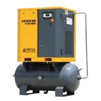 Buy cheap Cheap price of Airhorse 7.5 KW 10 HP screw air compressor mounted air tank from wholesalers