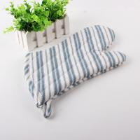 Buy cheap Polyester 450gsm Filling Cotton Kitchen Oven Mitts Neat Blue And White Strip from wholesalers