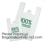 Buy cheap Wholesale Factory Compostable Biodegradable Plastic T-Shirt Bags,Biodegradable Compostable T Shirt Garbage Bags On Roll from wholesalers