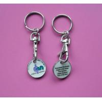 Buy cheap Metal Custom Shopping Trolley Coin Token Keychain/key Ring from wholesalers