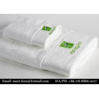 Buy cheap Custom Gym Sports Towel Royal White 100% Cotton Bath Towels For Hotel from wholesalers