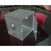 Buy cheap Frost Acrylic Donation Box with Lock from wholesalers