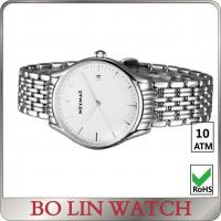 Buy cheap Mens Sport Stainless Steel Bracelet Watch / White Dial Watch With Metal Strap from wholesalers