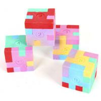 Buy cheap 3D Puzzle Cube Eraser For Kids As Toys from wholesalers