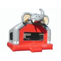 Buy cheap Amusement Park Cute Elephant Huge Bounce House , Small Indoor Bouncy Castle Hire from wholesalers