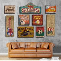 Buy cheap Wooden Tin Signs Home Bar Hotel Club Wall Art Painting Plaque Party Public Decor Vintage Style  Abstract wood carved from wholesalers