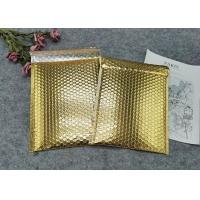Buy cheap Protective Gold Colored Bubble Wrap Mailing Bags / Poly Bubble Mailers from wholesalers