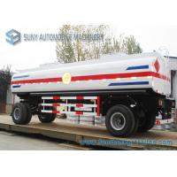 Buy cheap Mild Steel Q235 / Q345 18000L Mechanical / Pneumatic Tanker Trailers 2 Axle from wholesalers