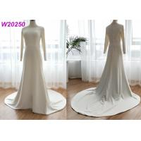 Buy cheap One Meter Train A Line Bridal Dress / Mikado Fabric Ivory Lace A Line Wedding Dress from wholesalers