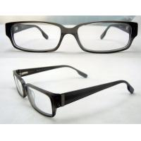 Buy cheap Cool Rectangular Mens Acetate Eyewear Frames, Black Optical Eyeglasses Frame product