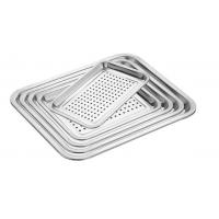 Buy cheap Food Grade Perforated Baking Tray Stainless Steel Material With Round Hole from wholesalers