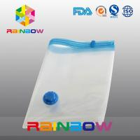 Buy cheap Transparent Vacuum Seal Bag for Food / Apparel / Quilt Storage With Zipper And Valve from wholesalers