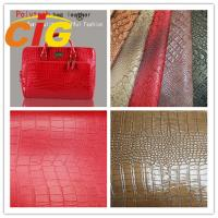 Ostrich Embossed Polyurethane Leather Popular Customized Bags Artificial Leather