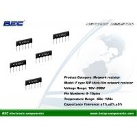 Buy cheap 200V, -55℃ ~ 125℃ Resistors Network - F Type With Stable Performance for Limited Space PCBs from wholesalers