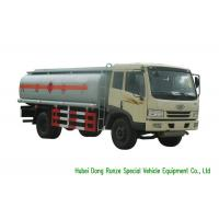 Buy cheap FAW 15000Liter Mobile Fueling Trucks / Fuel Tanker Truck With PTO Fuel Pump from wholesalers