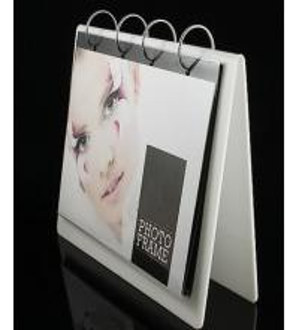 Buy cheap White Acrylic Calendar Holder , Desk Calendar Stand 16 * 22cm product