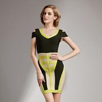 Buy cheap Claire 2016 Black and Yellow Ladies Bodycon Party Rayon Dress Womans HL Bandage Dresses CS201 from wholesalers