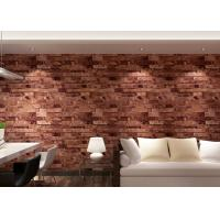 Buy cheap Removable 3D Brick Effect Wallpaper Living Room Wall Covering 0.53*10M from wholesalers