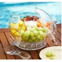 Buy cheap Salad Transparent Clear Acrylic Bowl With Lid For Restaurant product